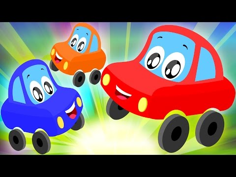 Little Red Car Rhymes - Five Little Babies | Nursery Rhyme | Funny Car Video