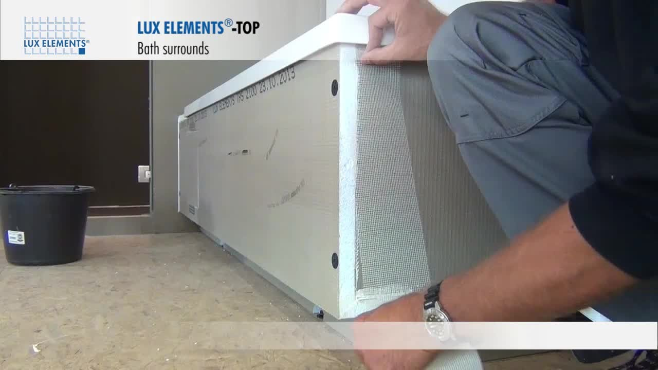 LUX ELEMENTS Installation: Bath tub surrounds TOP-TR for rectangular bath tubs - YouTube
