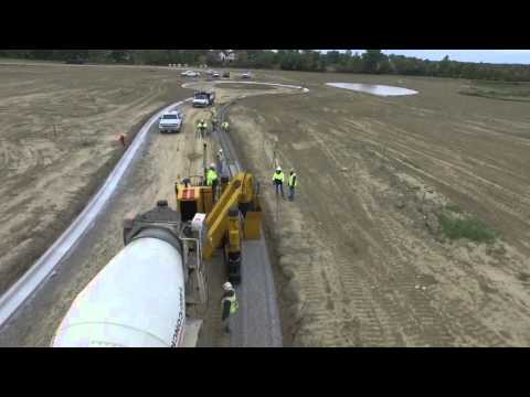 Drone Footage Trucco Const Gomaco Gt 3600 Concrete Curb