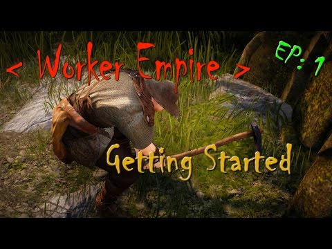 Black Desert - Worker Empire (EP: 1) - Getting started : Workers , Beer , Junk Crates