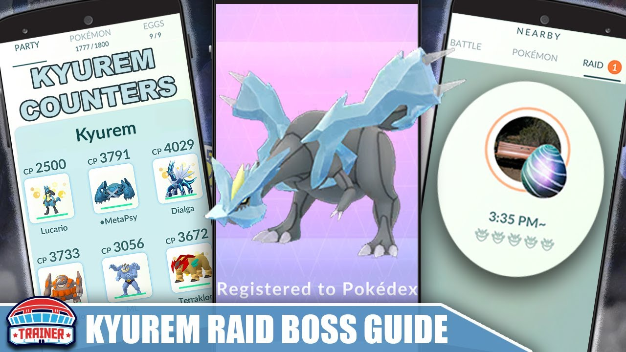 THE *KYUREM* COUNTER GUIDE! 100 IVs, MOVESET & WEAKNESS - DRAGON ICE RAID BOSS | Pokémon Go