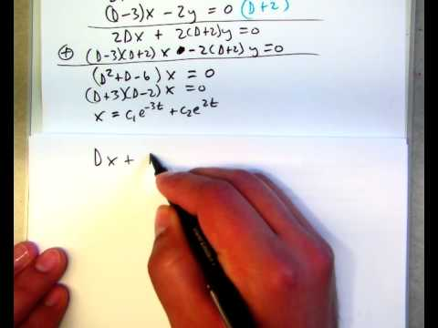 8.1 Solving systems of differential equations using operators (part 1)