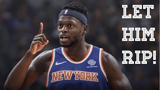 Julius randle out here doing stupid stuff for the knicks. great signing y'all.