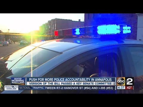 Push for more police accountability in Maryland
