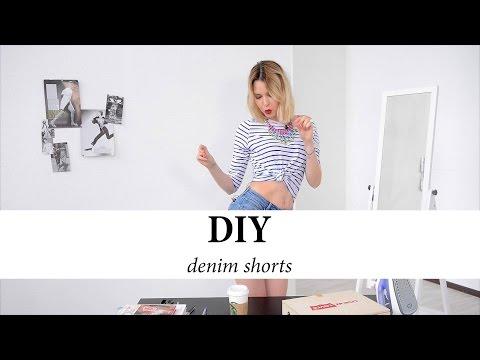 DIY. Как обрезать джинсы. Сделать шорты