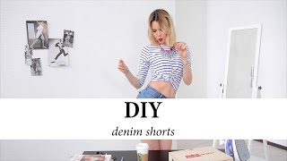 DIY. Как обрезать джинсы. Сделать шорты(Теперь сделать эксклюзивные джинсовые шорты можно, не выходя из дома. Все возможные идеи и необходимые..., 2015-07-16T08:39:32.000Z)