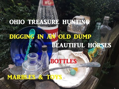 Ohio Treasure Hunting Digging Old Dump Archaeology Bottles