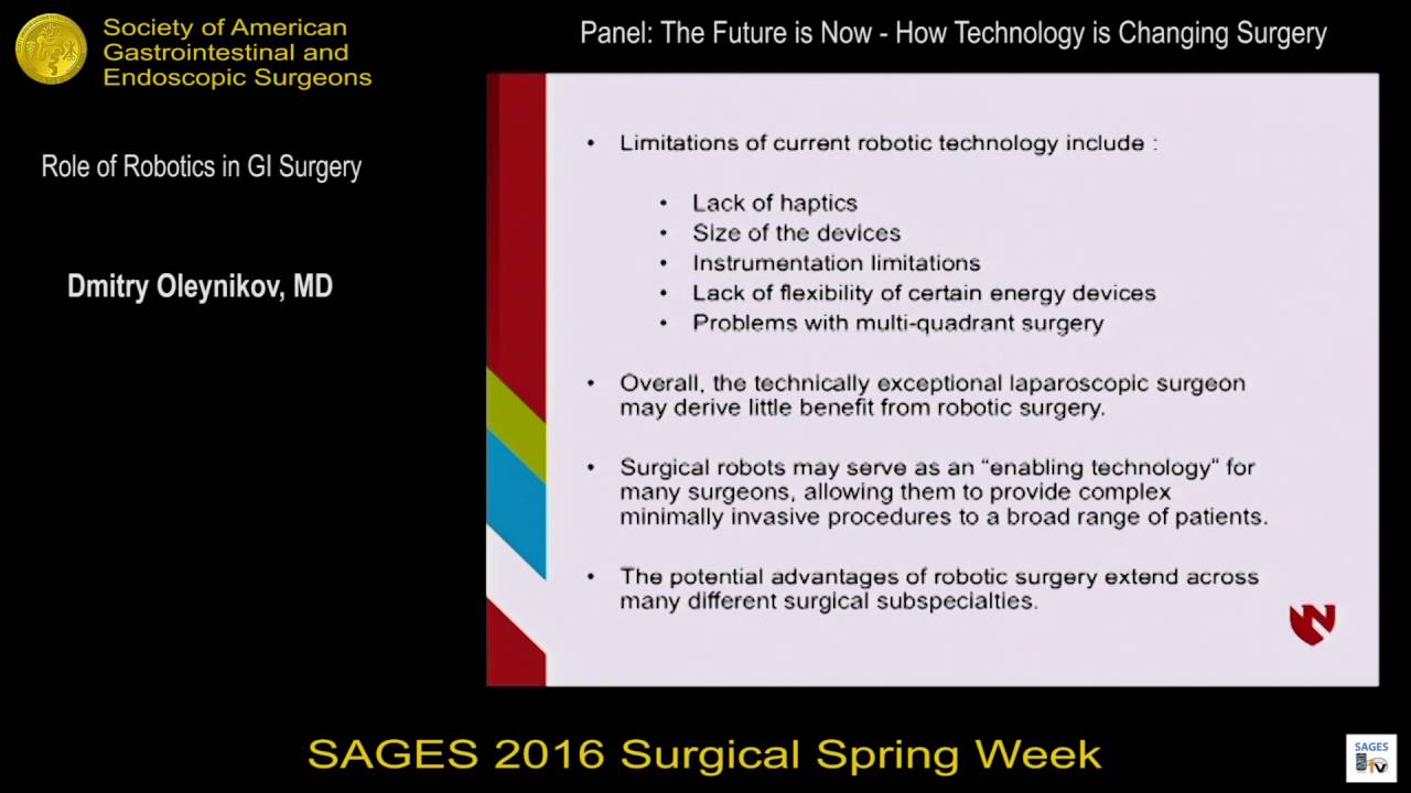 Role of Robotics in GI Surgery from the SAGES Video Library
