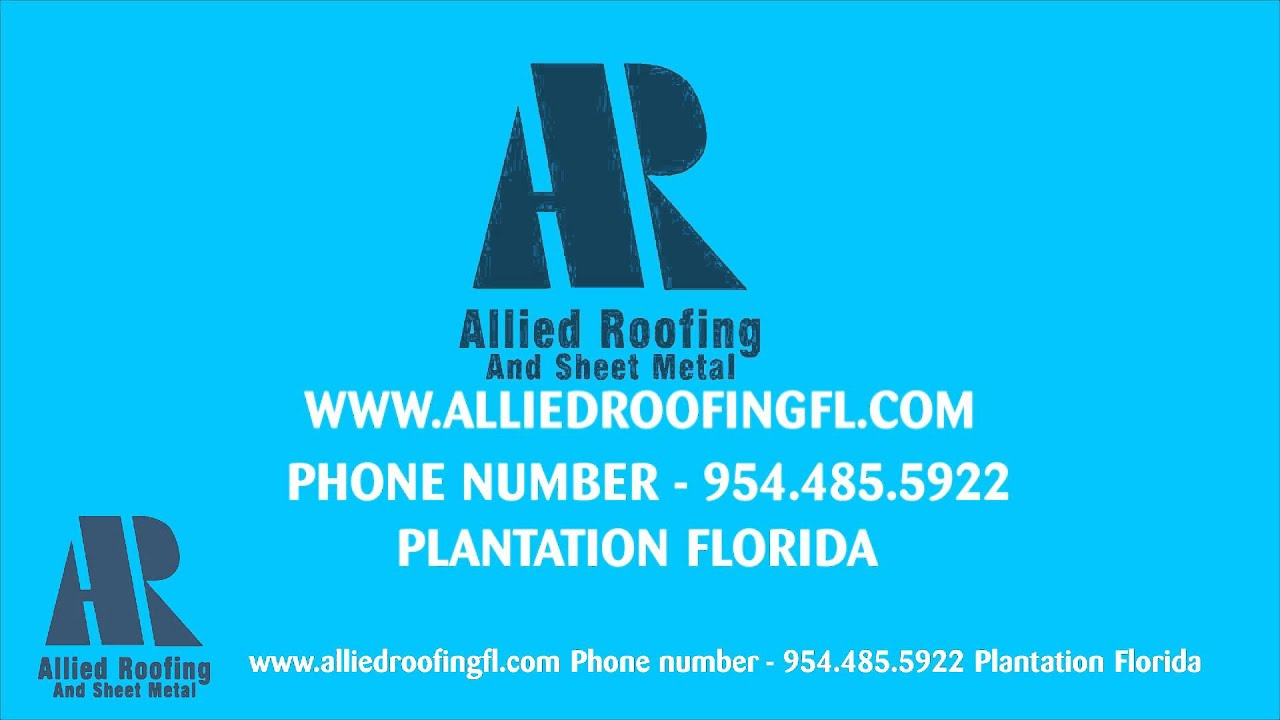 Charming Roofing Plantation FL (954) 485 5922 Roof Repair Contractror Florida Allied  Roofing Company