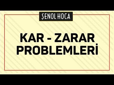 KAR ZARAR PROBLEMLERİ | ŞENOL HOCA