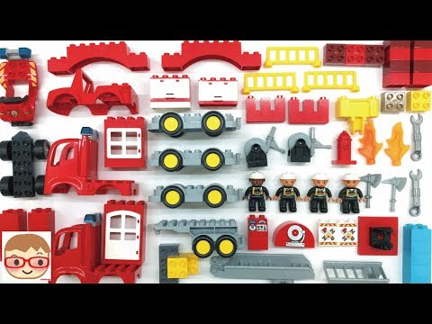 Thumbnail: Fire Truck Assembly Videos for Kids - Car toys for children - Build and Play Toys for Children