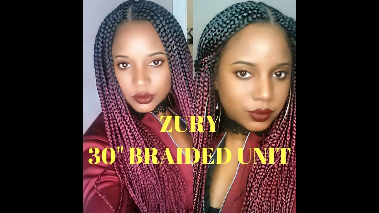 Zury 30 inch braided wig color Sombre rt