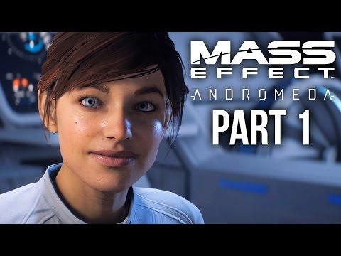 MASS EFFECT ANDROMEDA Walkthrough Part 1 - INTRO (Female) Full Game
