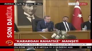 Erdoğan'dan Hande Fırat'a sert tepki: Terbiyesizlik