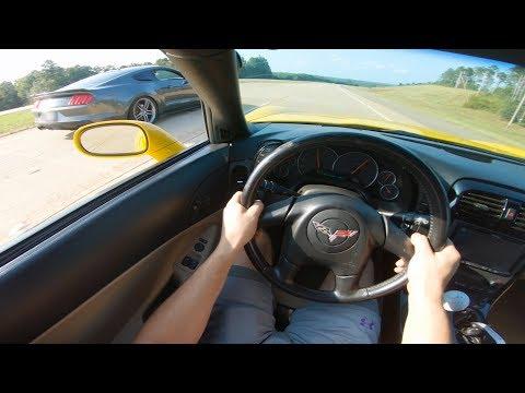 New Corvette's FIRST RACE vs Roush Mustang!