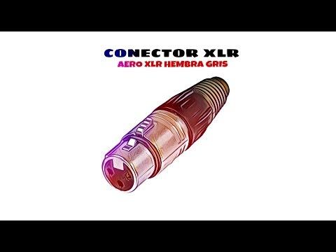 Video de Conector aereo XLR hembra  Gris