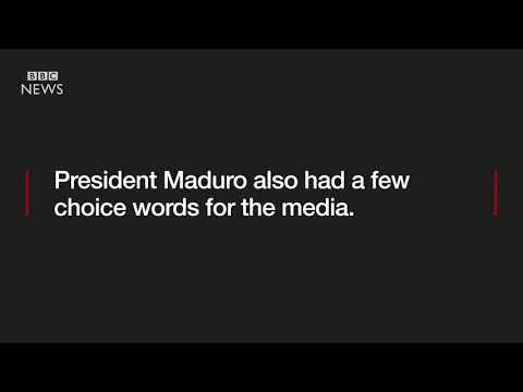 Venezuela's leader on Donald Trump    and the BBC   BBC News