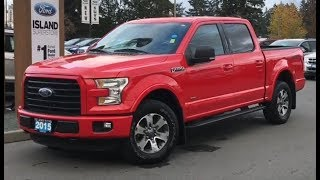 2015 Ford F-150 XLT Sport, Backup Camera, Spray In Liner Review| Island Ford
