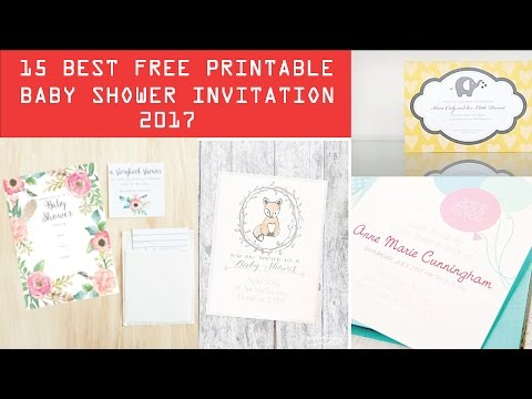 15 Best Free Printable Baby Shower Invitation Templates 2017