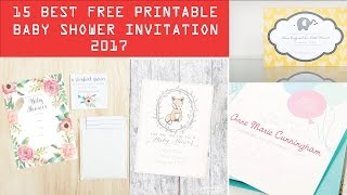 Best Free Printable Baby Shower Invitation Templates