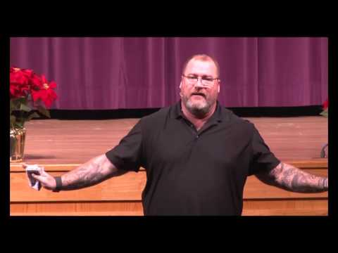 JEFF YALDEN speaks at Palisades High School