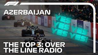 Perez, Vettel And Gasly Team Radio Celebrations | 2021 Azerbaijan Grand Prix