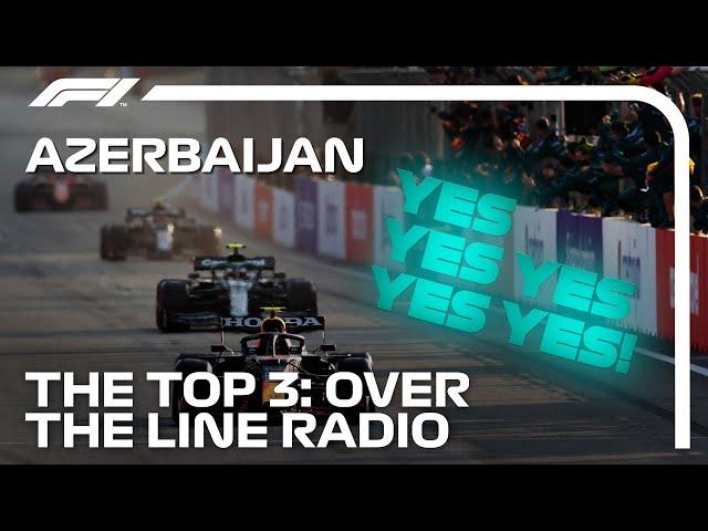 Perez, Vettel And Gasly Team Radio Celebrations   2021 Azerbaijan Grand Prix