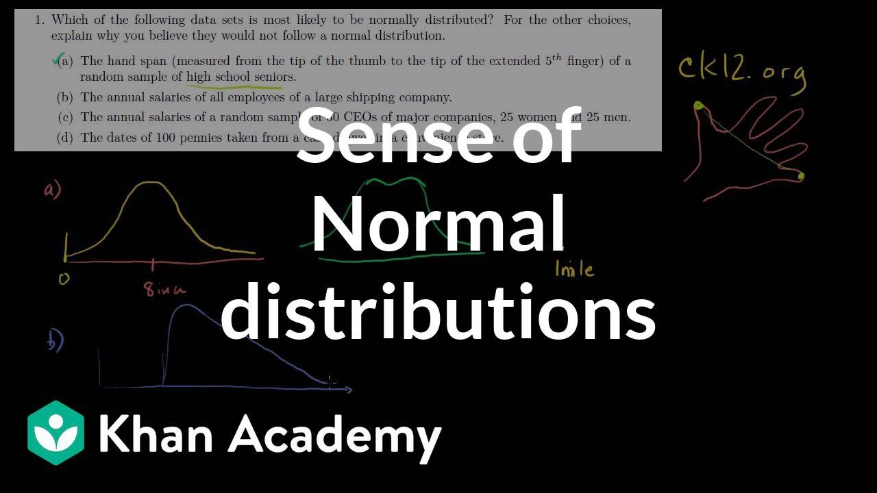 Qualitative sense of normal distributions (from ck12.org) (video ...