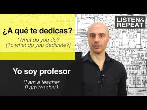 Learn spanish: (1) Introductions in Spanish