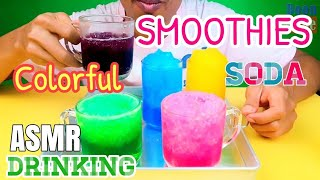 ASMR Drinking Soda Colorful Smoothies EST 5 Flavor l EP.16 I BoonTube