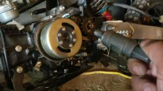 Flywheel stator removal instruction video Pit bike pt 1, second part will go over installation