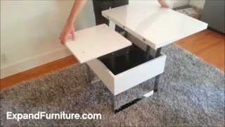 Space Saving Table Demonstration. Lifting And Folding. By Expand Furniture
