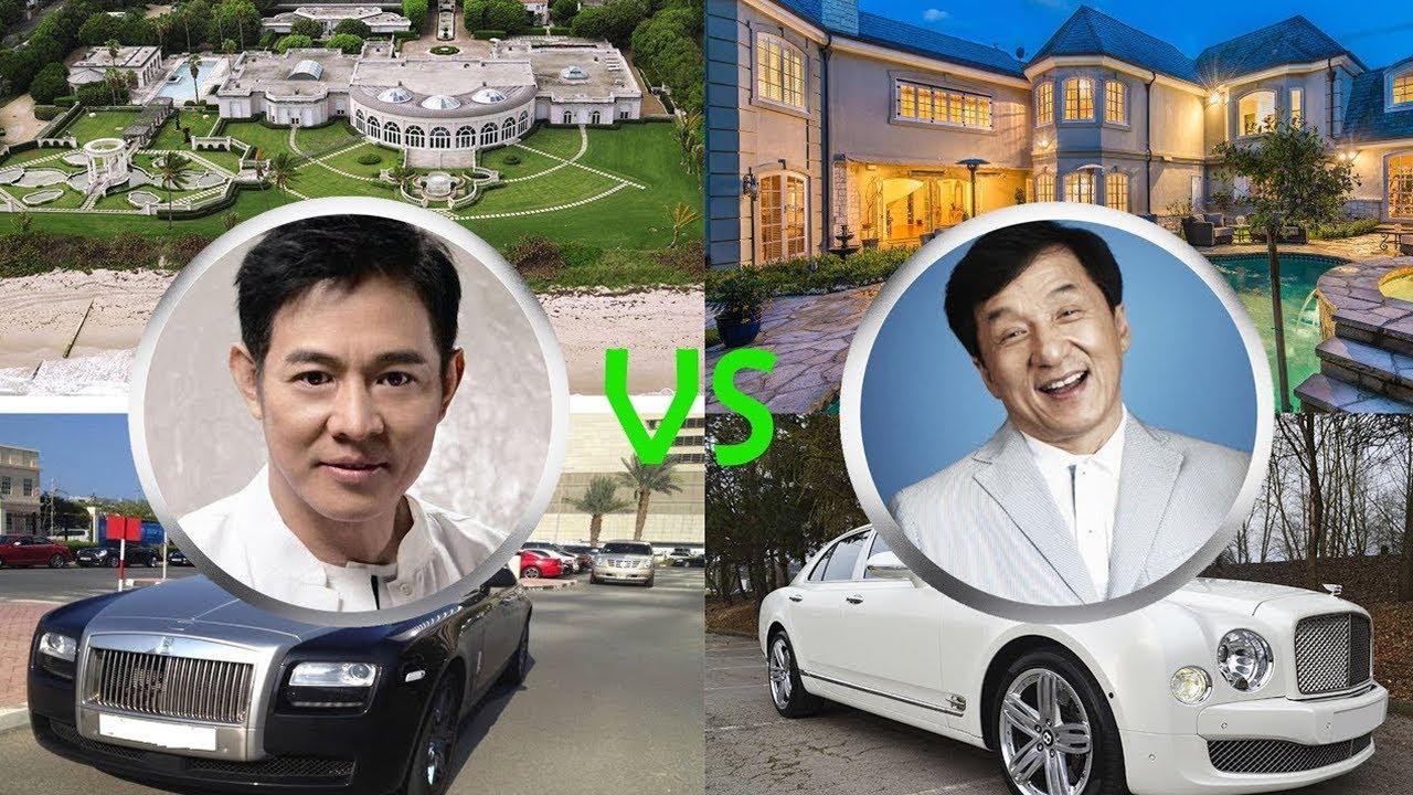 Quem é mais rico JACKIE CHAN ou JET LI? Casas, carros, jatos, iates...