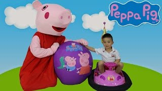 peppa pig super giant surprise egg kids toys opening playtime fun with peppa ckn toys
