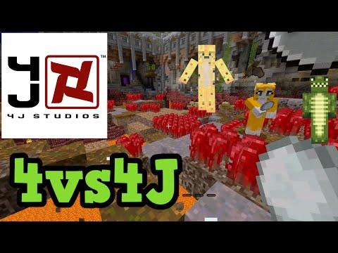 4J Studios vs 4 YOUTUBERS - Tumble W/ BigB, Ecko & Stampy
