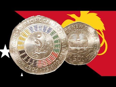 Papua New Guinea Commemorative 50 Toea Coloured Coin