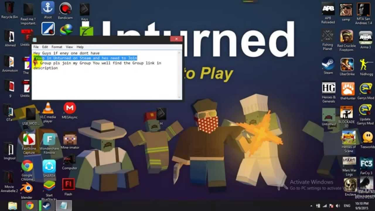 how to make a group in unturned 2