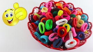 New Craft Out Of Hair Rubber Bands ! Best out Of Waste Crafts ! Rubber Bands Crafts !