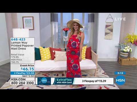 Lemon Way Printed Popover Maxi Dress. http://bit.ly/31OCfjJ