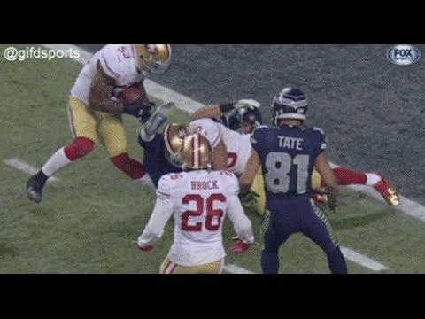 Navorro Bowman Broken Leg!  San Francisco vs. Seattle game!