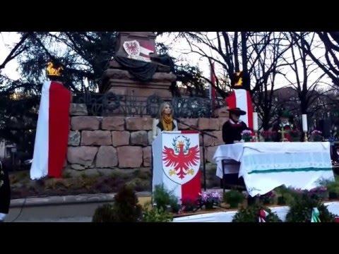 Gedenkrede Anna Arquè i Solsona - Andreas-Hofer-Landesfeier Meran, 21.02.2016