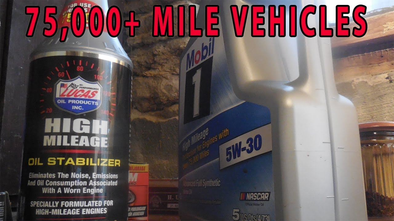 Lucas High Mileage Oil Change