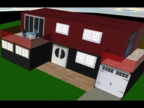 Shipping Container Home Design (Interior & Exterior Design)