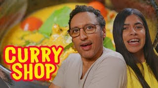 Aasif Mandvi Taste Tests High-End Indian Dishes | Curry Shop