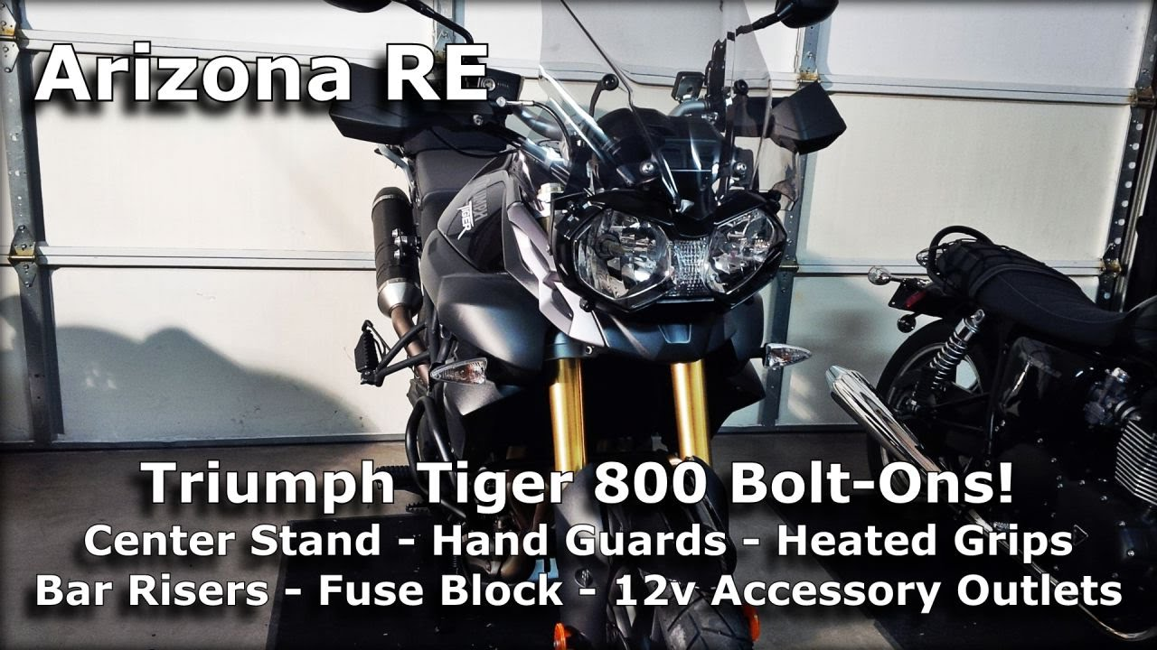 Motovlog Special Triumph Tiger 800 Abs Bolt On Accessories Youtube