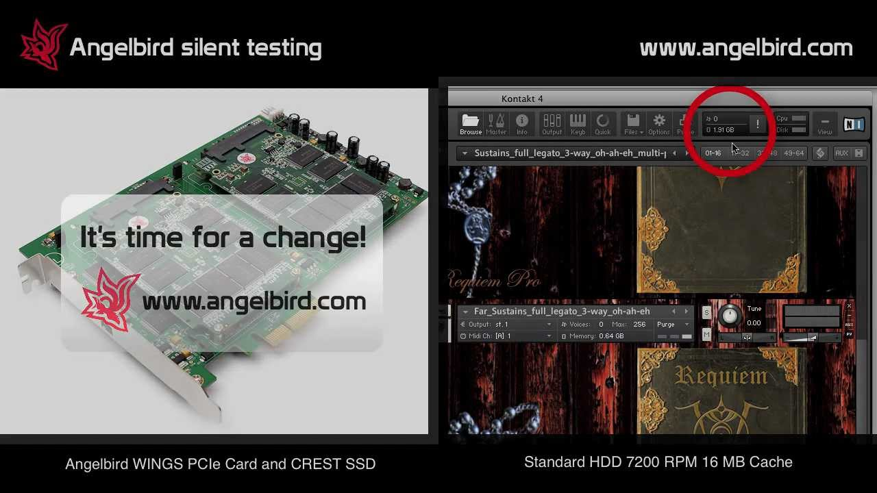 Silent testing: 8dio Requiem Pro with Angelbird Wings