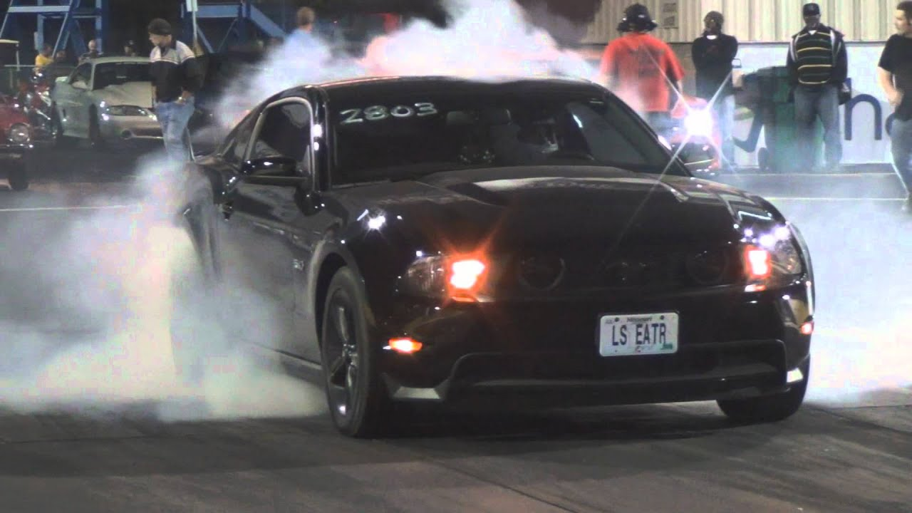 Tires 4 Less >> 2012 Mustang GT 5.0 - 1/4 mile drag - tune and tires - YouTube
