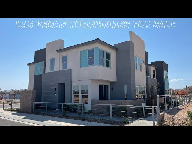 Modern Townhome with Dual Primary Suites | Contour | Southwest Las Vegas Homes For Sale $351k+