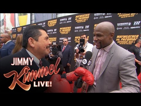 Guillermo at the Pacquiao/Mayweather Press Conference