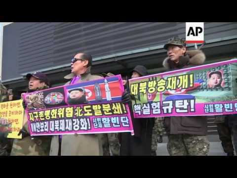 North Korea - North Korea / South Korea - Mass rally in NKorea in support of nuclear test / Anti-Nor